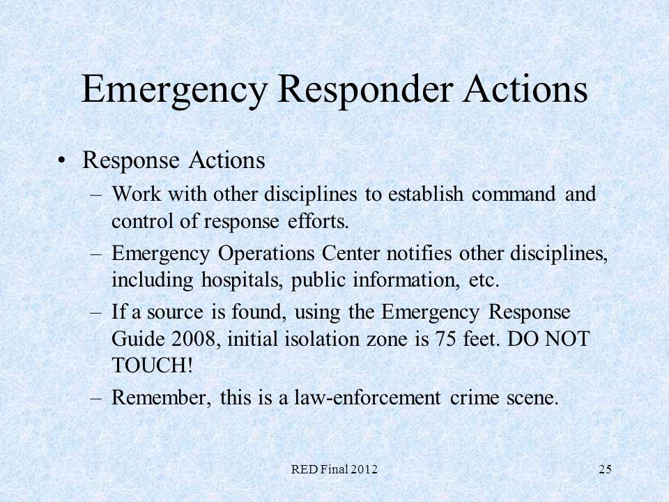 Emergency Responder Actions