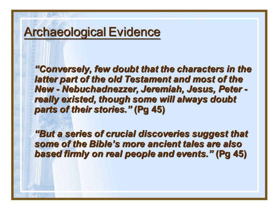 Archaeological Evidence