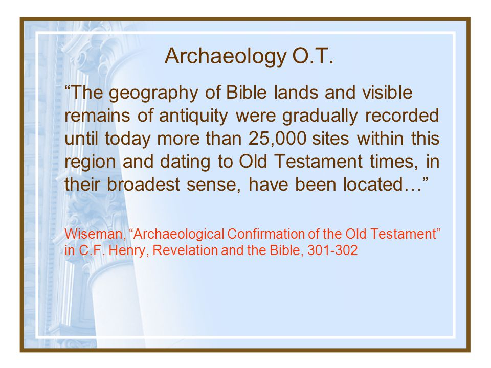 Archaeology O.T.