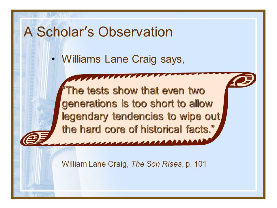 A Scholar's Observation