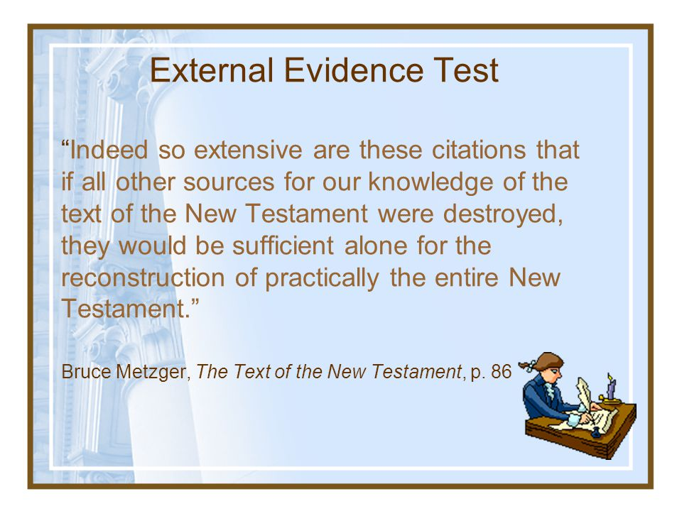 External Evidence Test