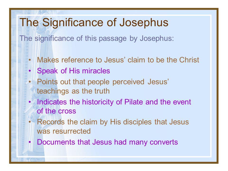 The Significance of Josephus
