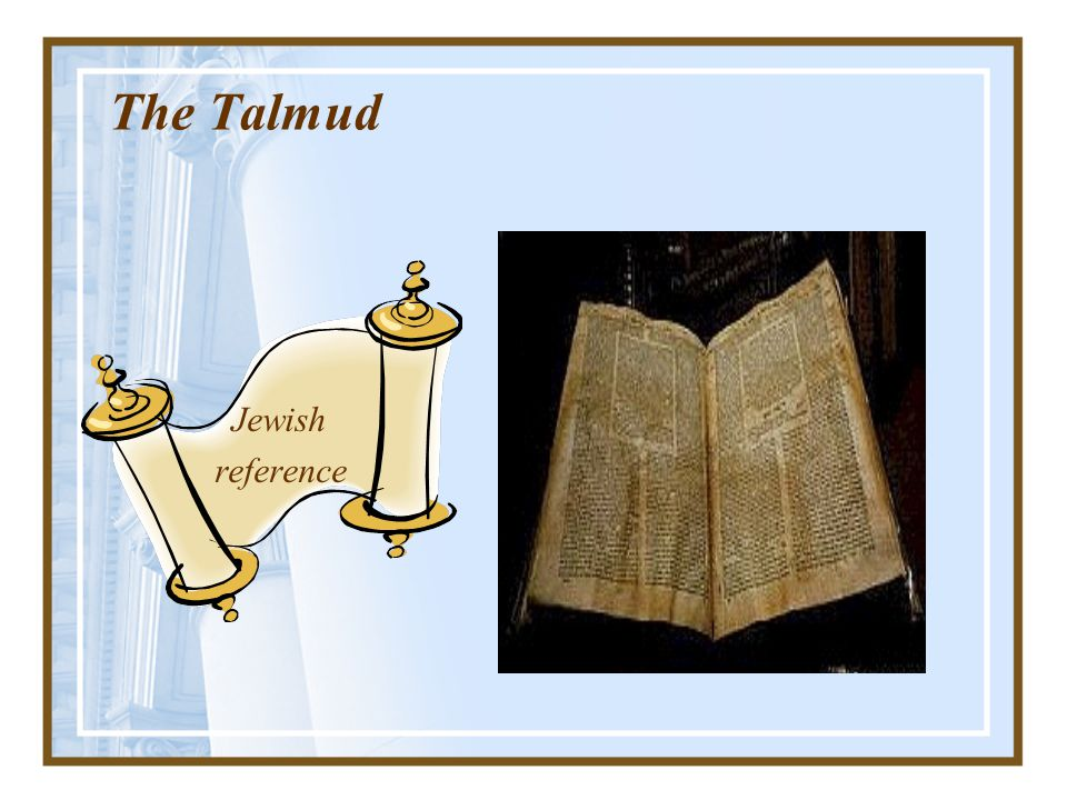The Talmud Jewish reference
