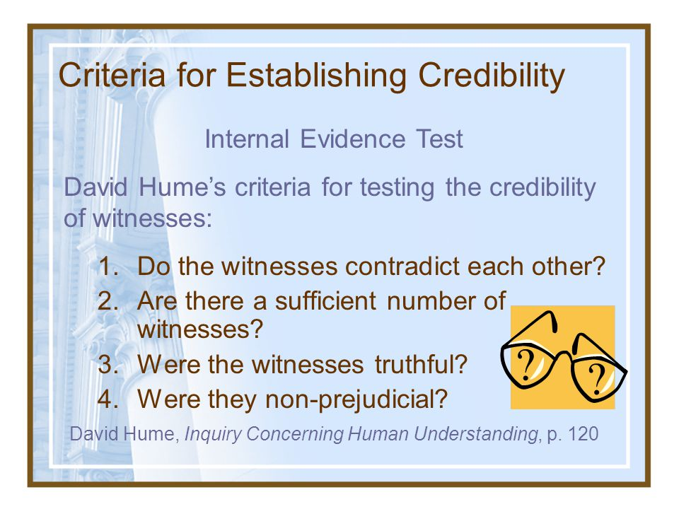 Criteria for Establishing Credibility