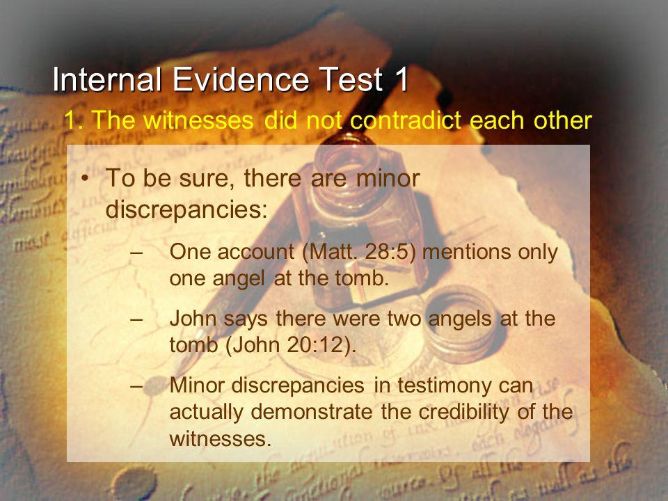 Internal Evidence Test 1