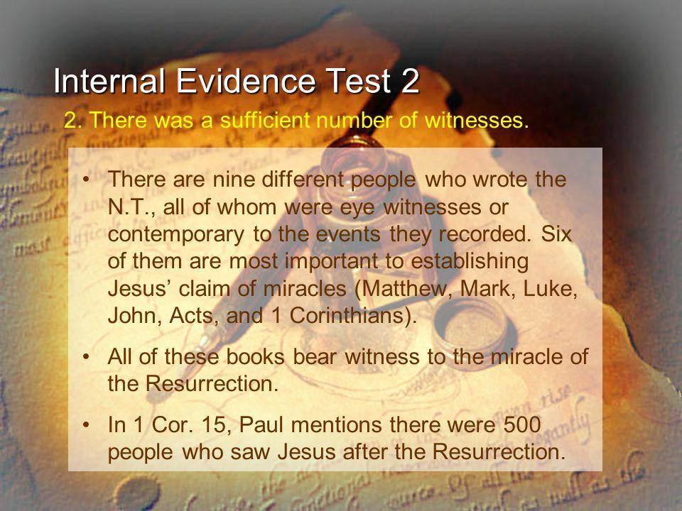 Internal Evidence Test 2