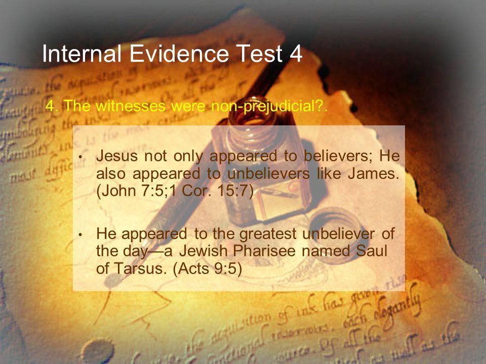 Internal Evidence Test 4