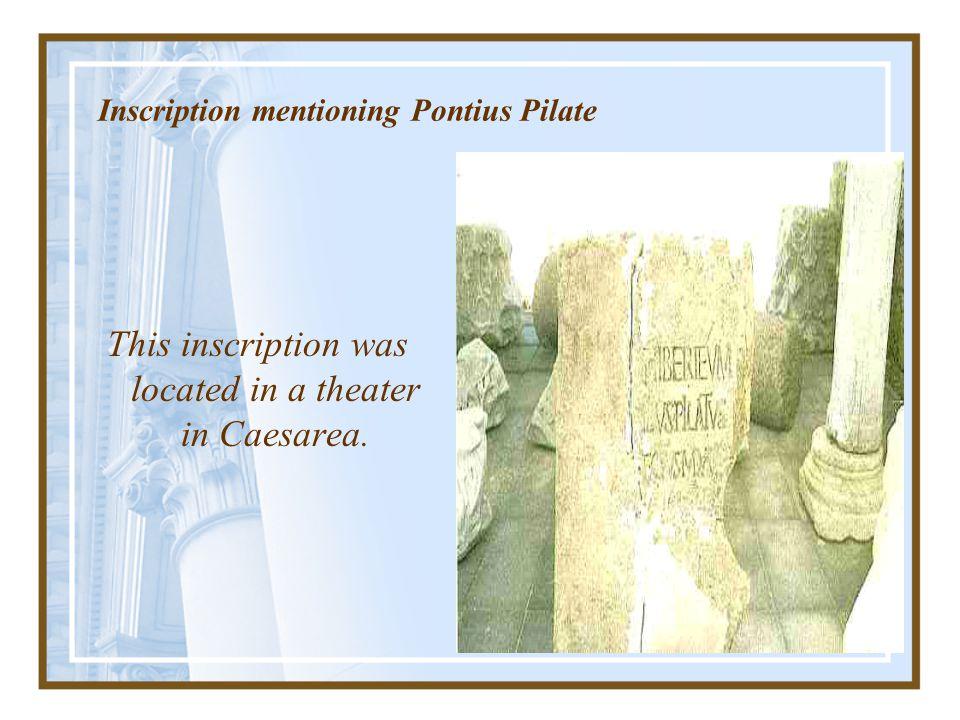 Inscription mentioning Pontius Pilate
