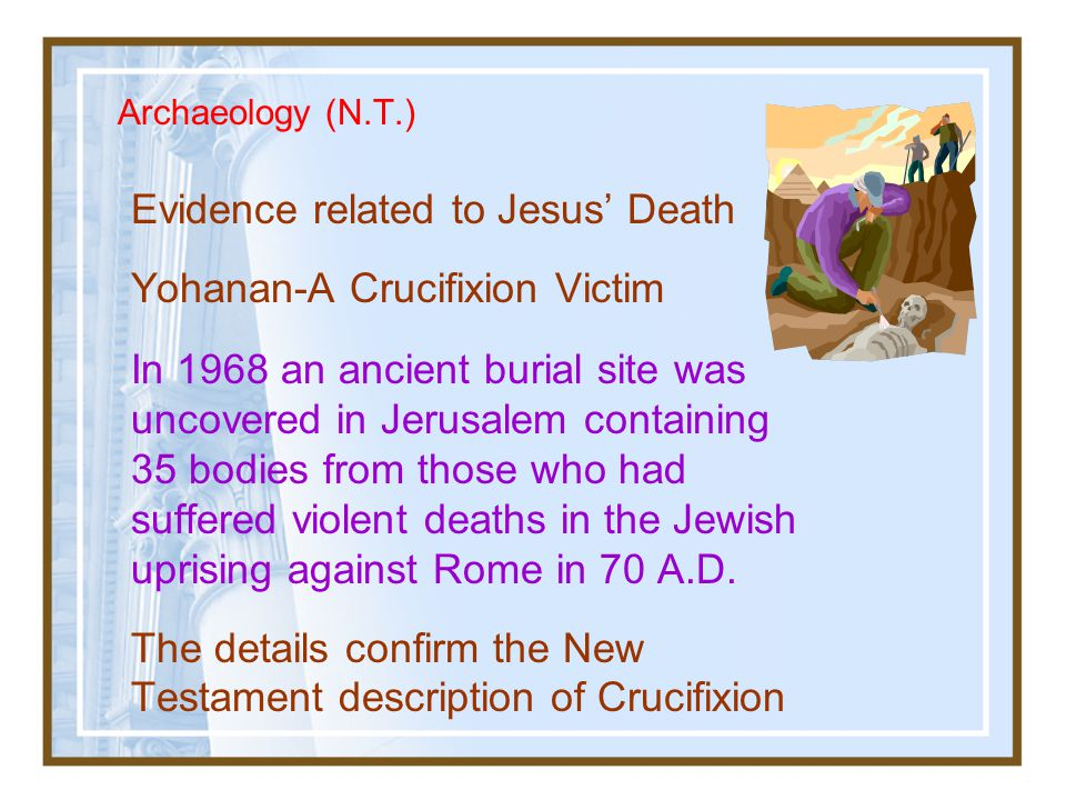 Evidence related to Jesus' Death Yohanan-A Crucifixion Victim