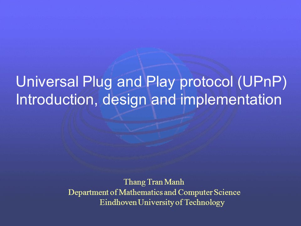 Universal Plug and Play protocol (UPnP)