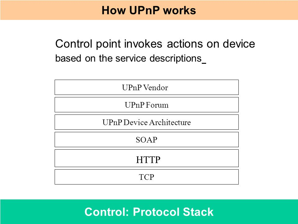 Control: Protocol Stack
