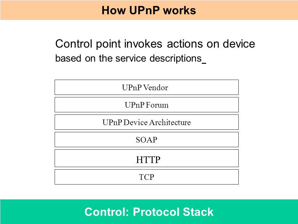 Control: Protocol Stack