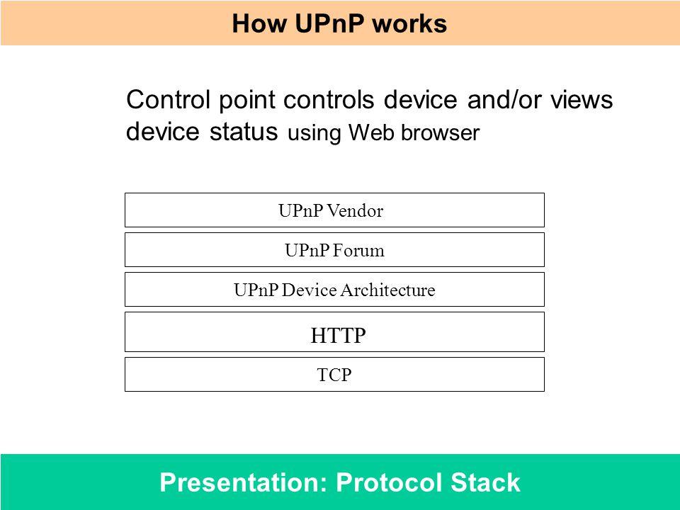 Presentation: Protocol Stack