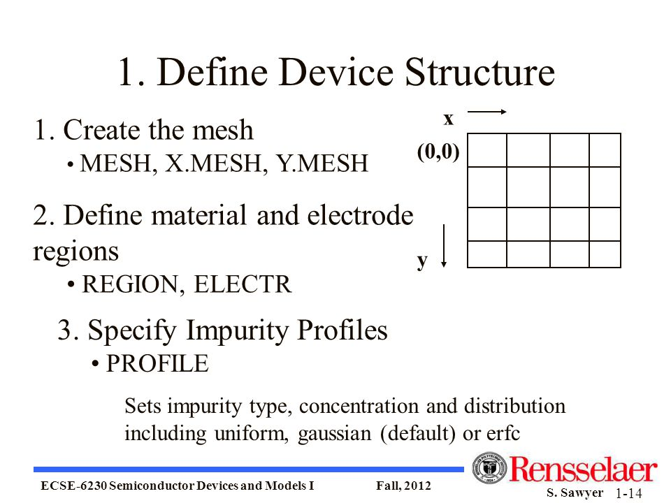 1. Define Device Structure