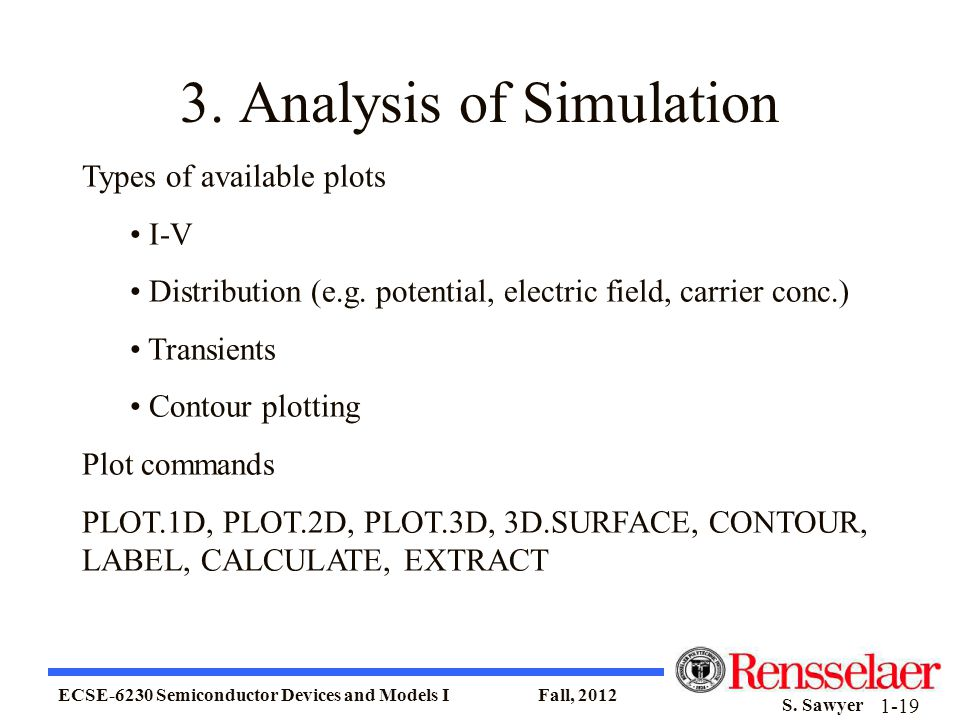 3. Analysis of Simulation
