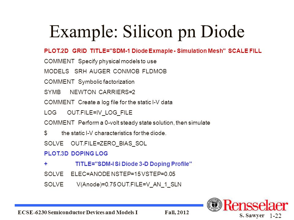 Example: Silicon pn Diode