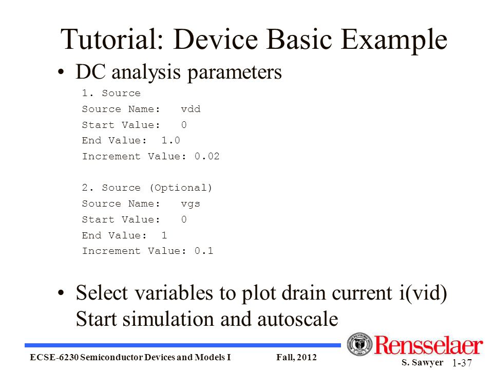 Tutorial: Device Basic Example