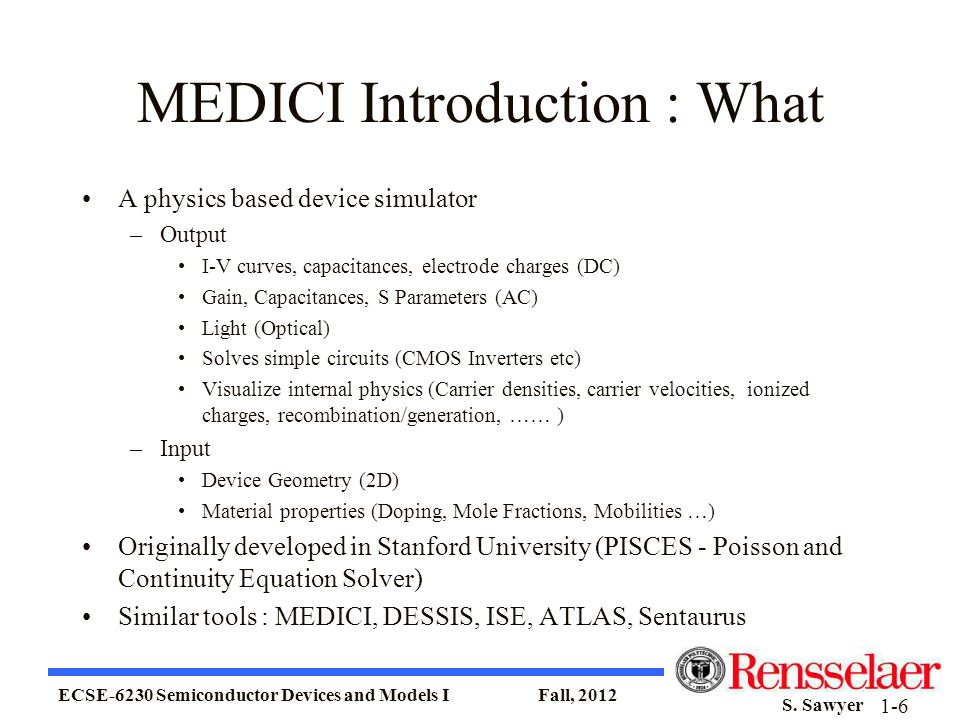 MEDICI Introduction : What