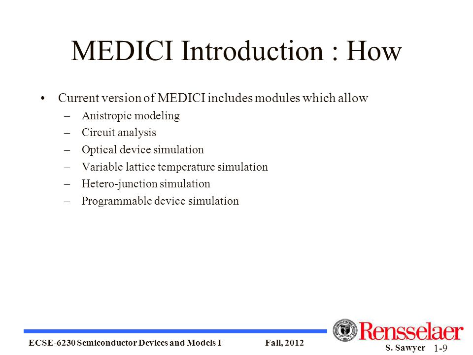 MEDICI Introduction : How