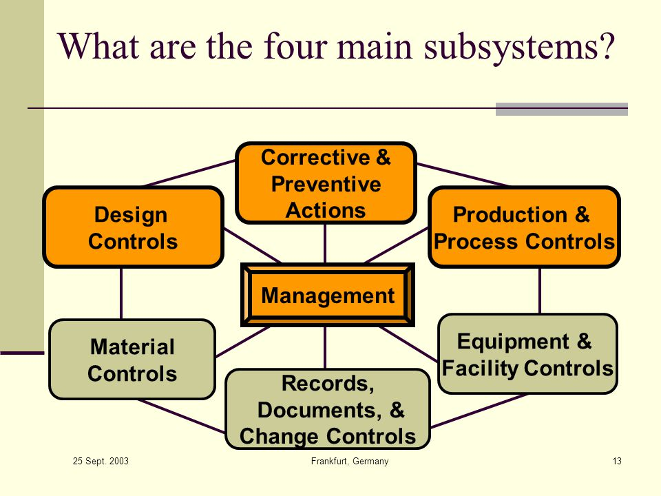 What are the four main subsystems
