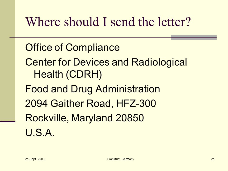 Where should I send the letter