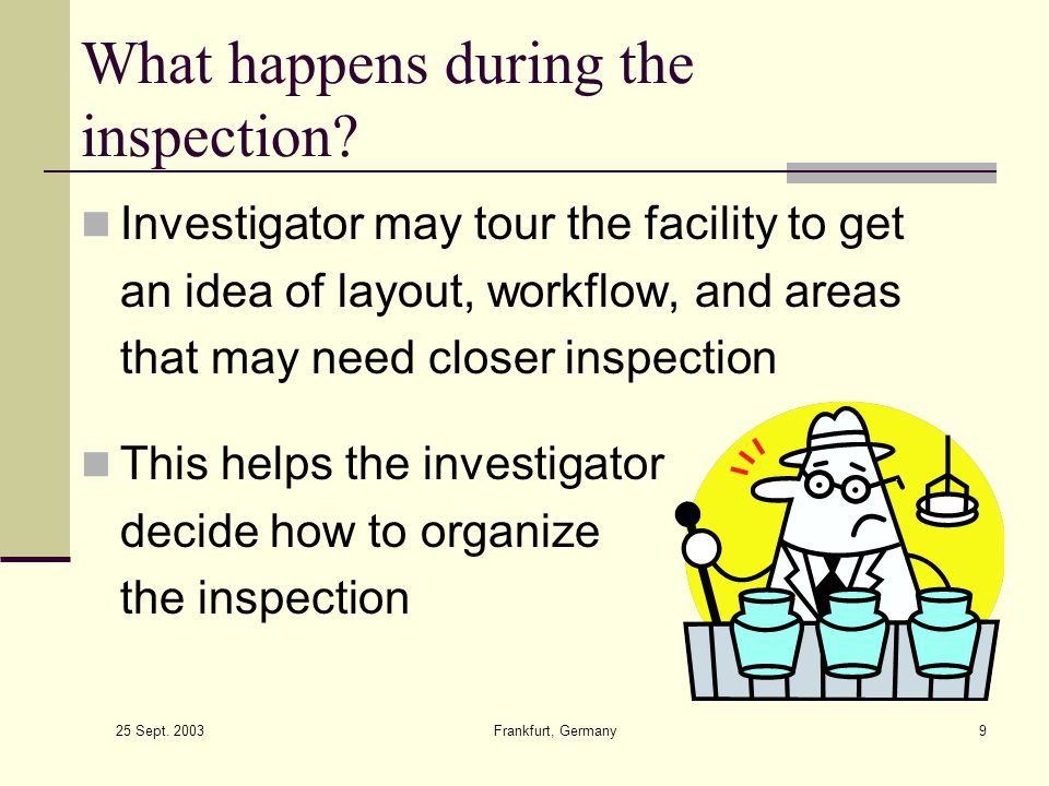 What happens during the inspection