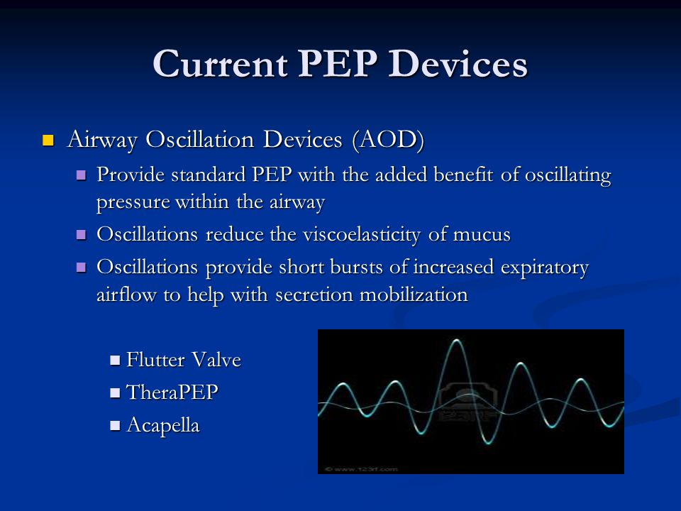 Current PEP Devices Airway Oscillation Devices (AOD)