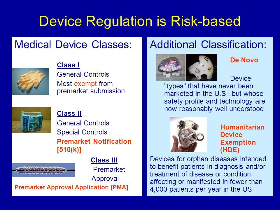Device Regulation is Risk-based