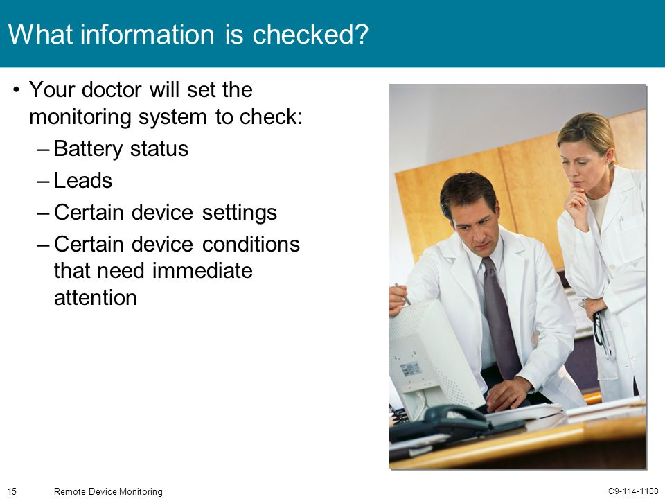 What information is checked