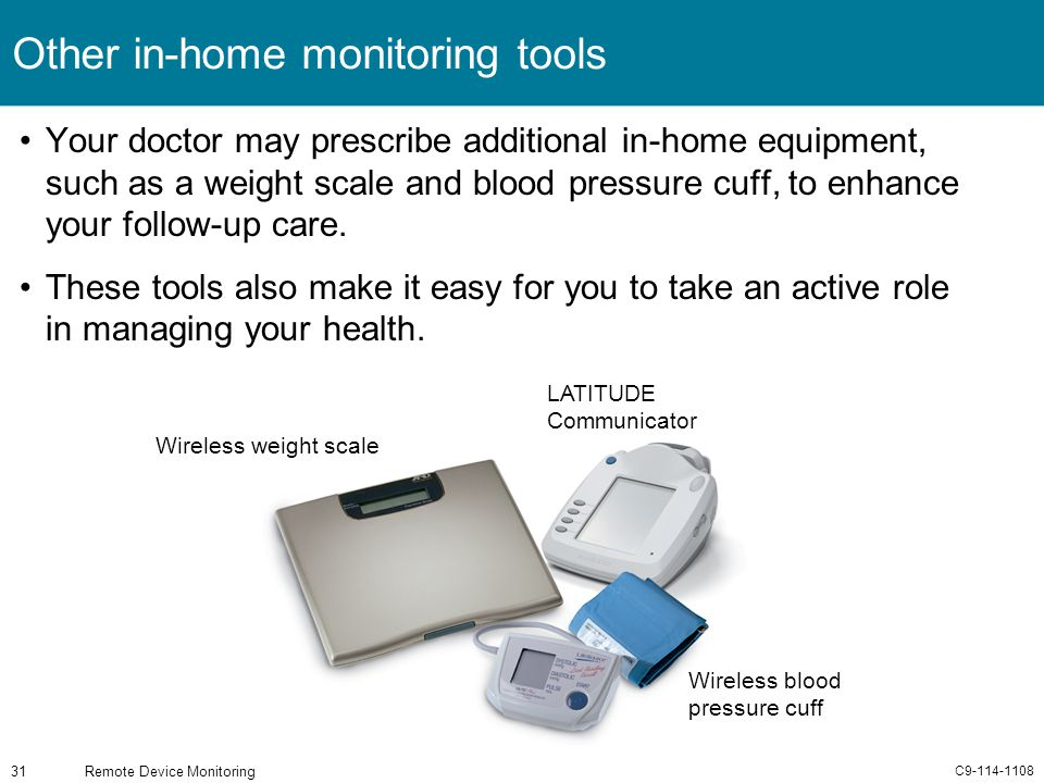 Other in-home monitoring tools