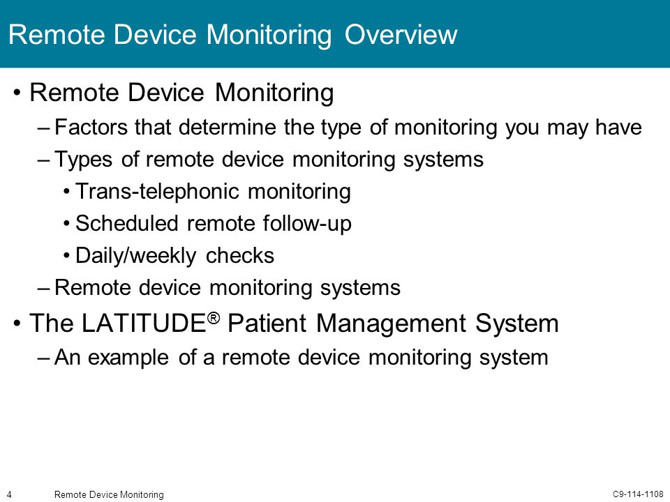 Remote Device Monitoring Overview