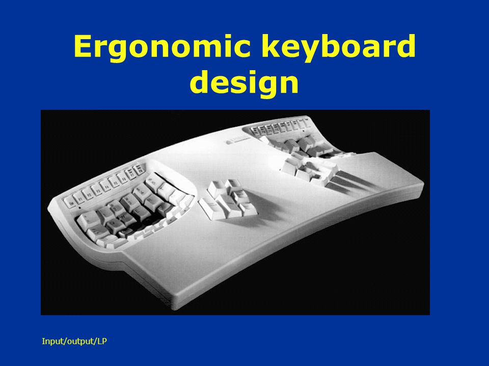 Ergonomic keyboard design