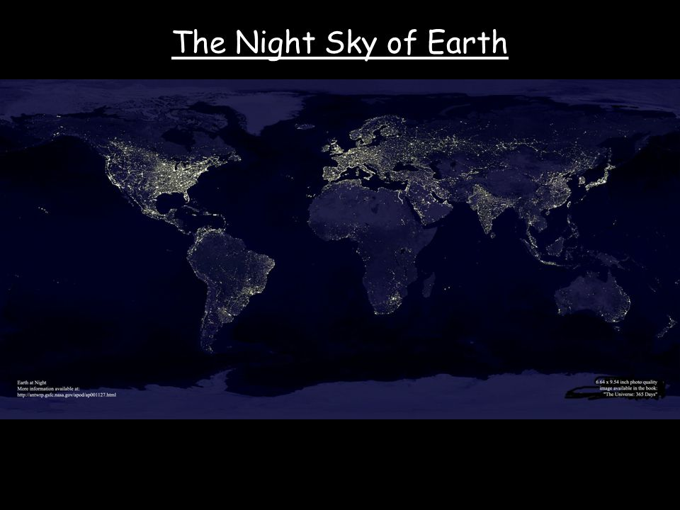 The Night Sky of Earth