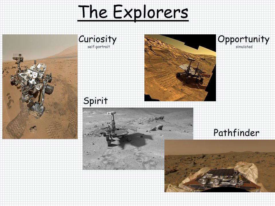 The Explorers Curiosity Opportunity Spirit Pathfinder self-portrait