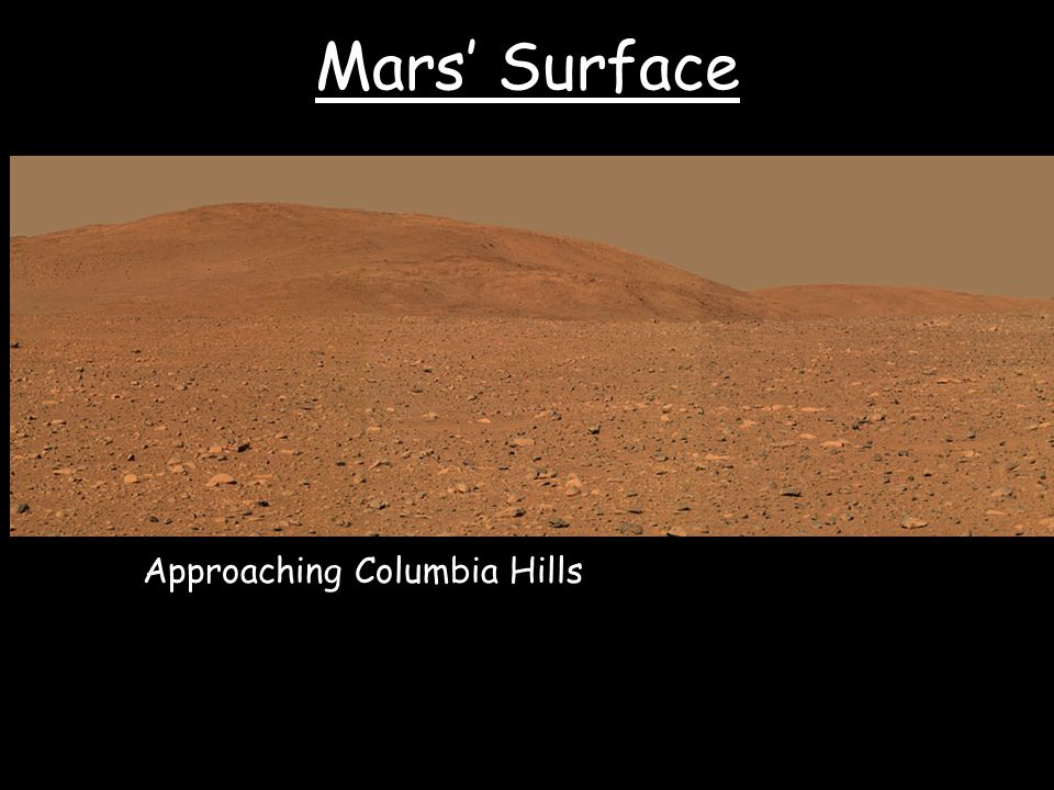 Mars' Surface Approaching Columbia Hills