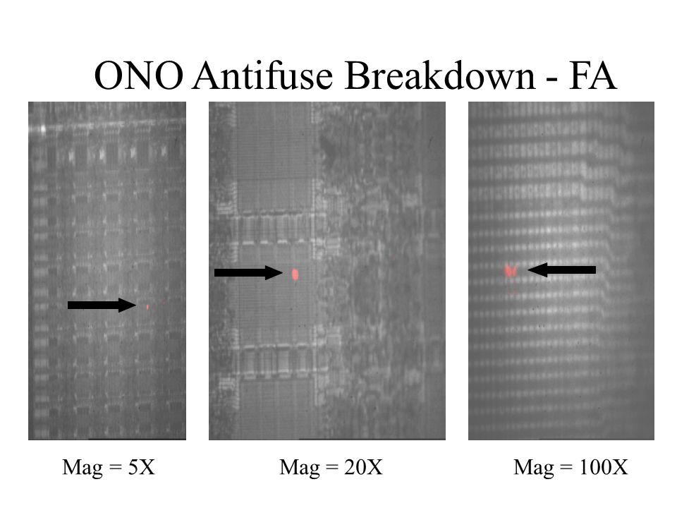 ONO Antifuse Breakdown - FA