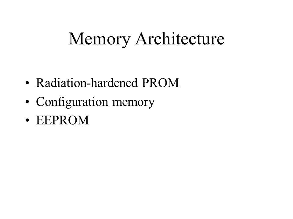 Memory Architecture Radiation-hardened PROM Configuration memory