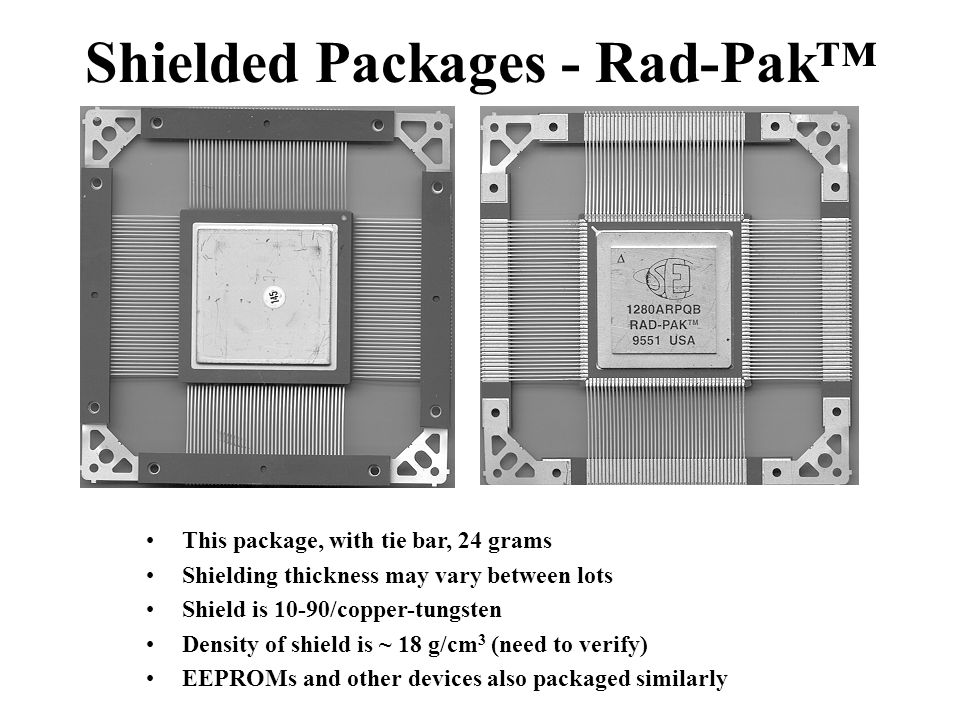 Shielded Packages - Rad-Pak™