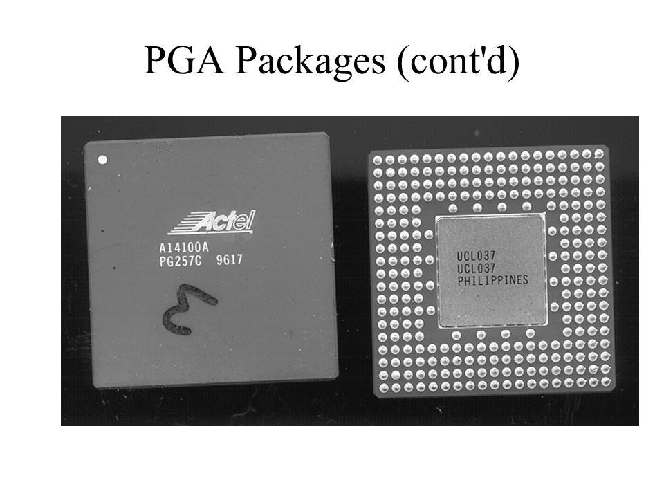 PGA Packages (cont d)