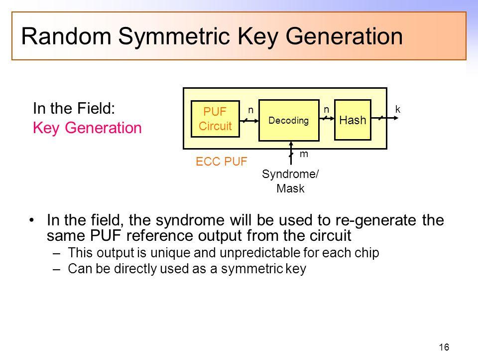 Private/Public Key Pair Generation