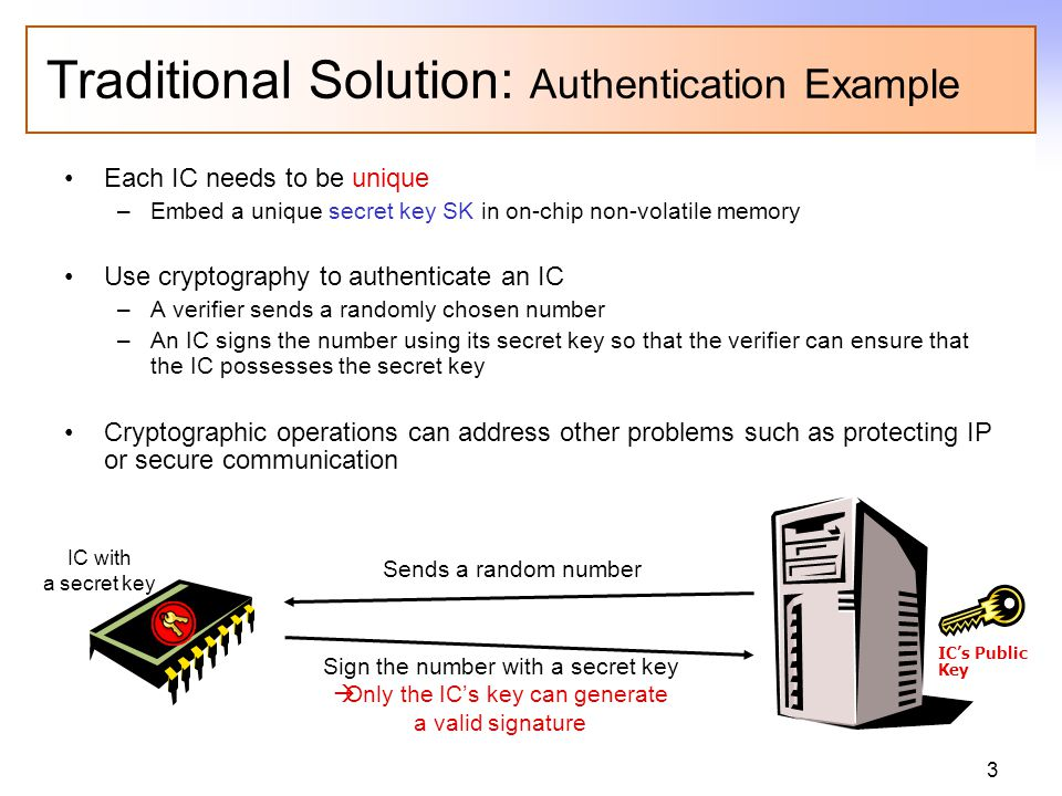 BUT… How to generate and store secret keys on ICs in a secure and inexpensive way