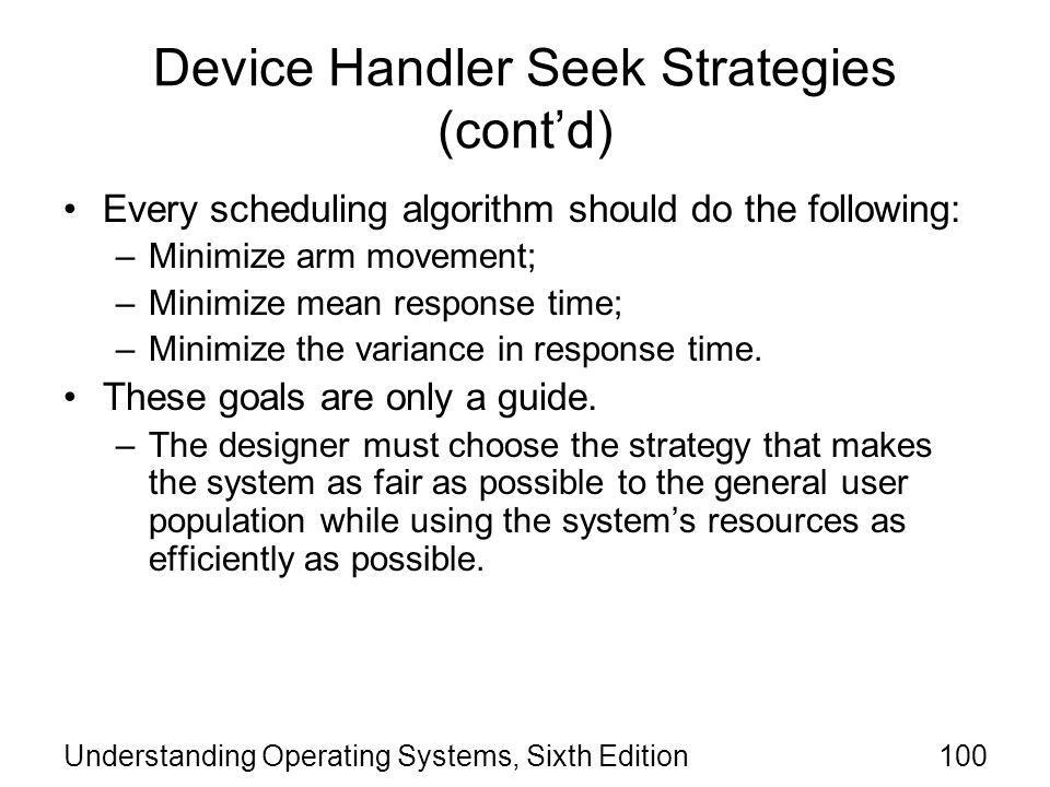 Device Handler Seek Strategies (cont'd)