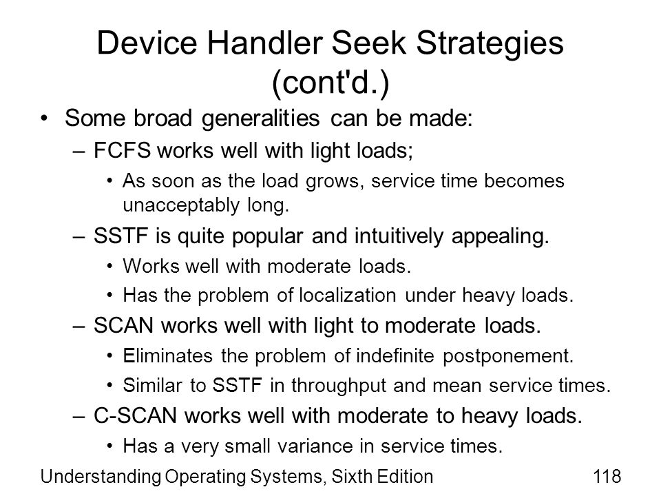 Device Handler Seek Strategies (cont d.)