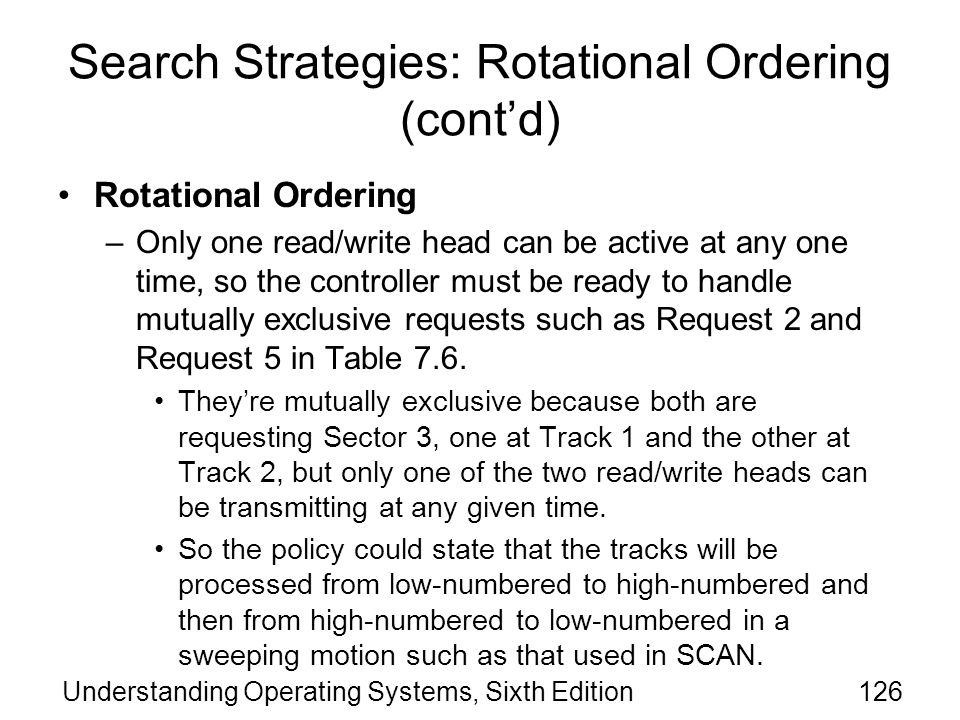 Search Strategies: Rotational Ordering (cont'd)