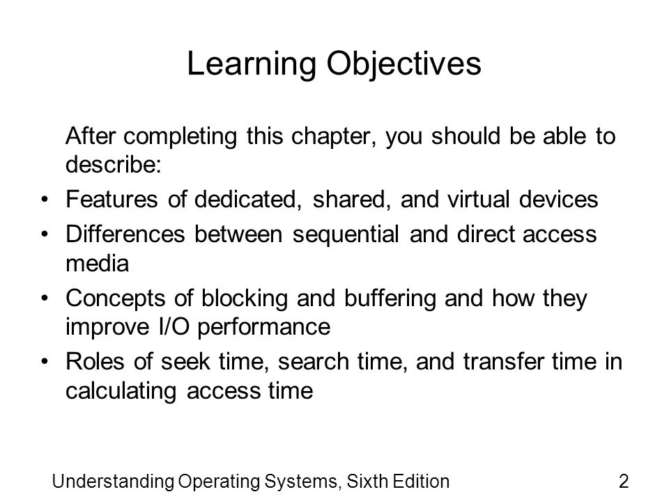 Understanding Operating Systems, Sixth Edition
