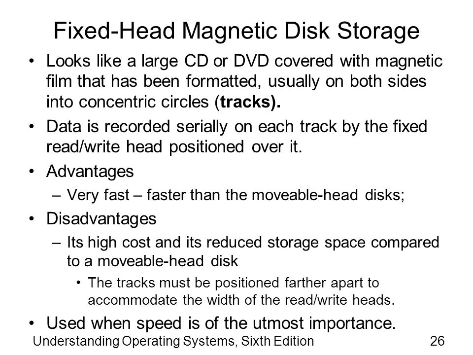 Fixed-Head Magnetic Disk Storage