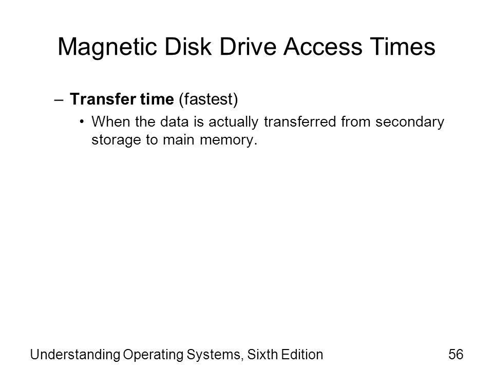 Magnetic Disk Drive Access Times