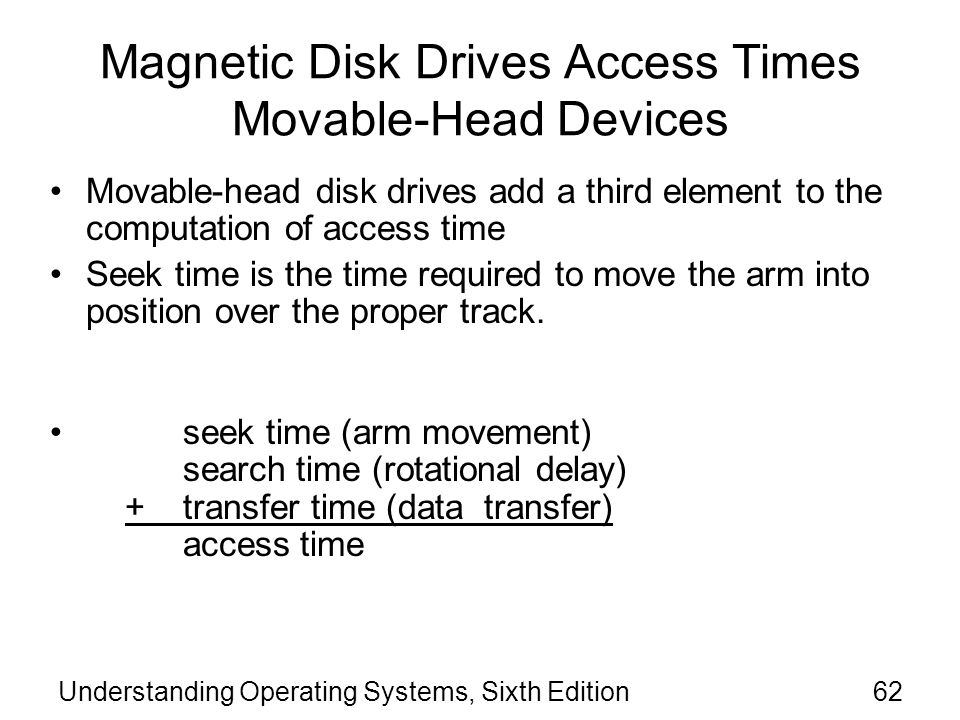 Magnetic Disk Drives Access Times Movable-Head Devices