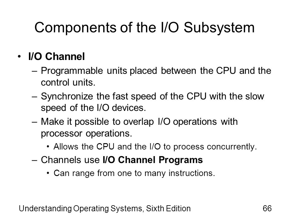 Components of the I/O Subsystem