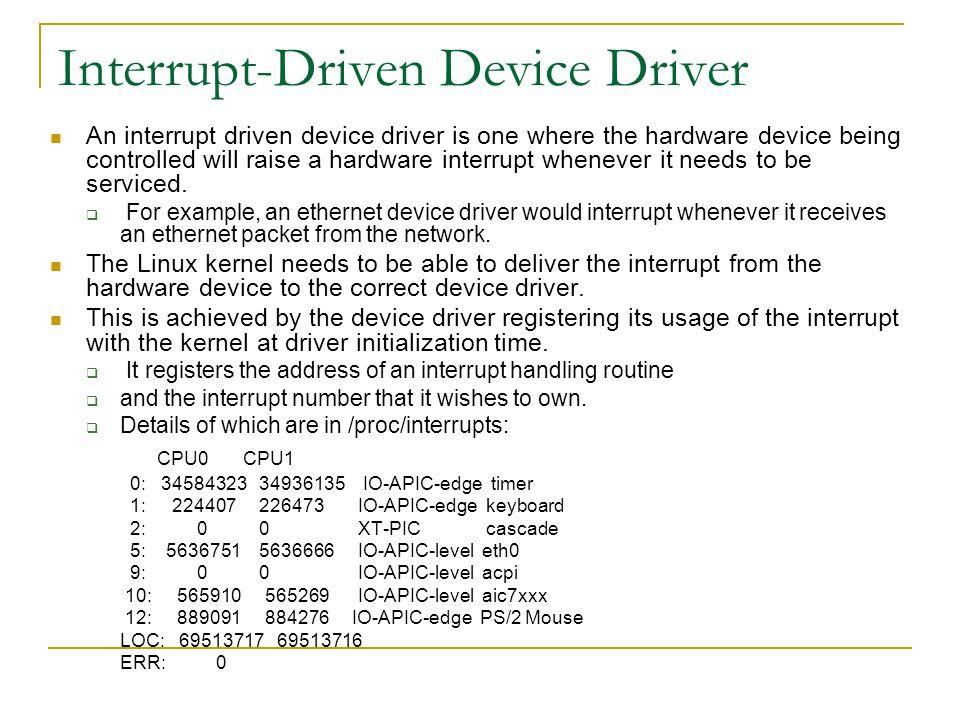 Interrupt-Driven Device Driver